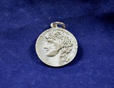 Antinoos et Hadrien twosided Argent Sterling médaillon pendentif