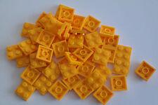 50 LEGO PIASTRA PIASTRE 2x2 COLORE ARANCIONE CHIARO NUOVO 3022