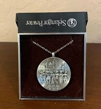 "Necklace 24"" St Chain in Box Greetings from Malaysia Selangar Pewter Pendant"