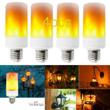 4X E27 LED Flicker Flame Light Bulb Simulated Burning Fire Effect Decor Lamp US