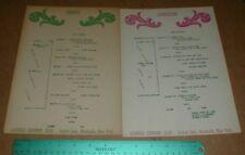 Laurels Hotel Golf Country Club Sackett Lake Monticello NY Vintage Menu lot 1951