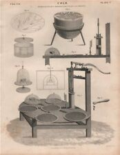 Cold; Professor Leslie's Apparatus for cooling and freezing. BRITANNICA 1860