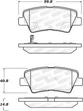 StopTech Disc Brake Pad Set Rear Centric for Hyundai / Kia # 308.15440