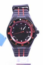 Technomarine TM-115219 Cruise Locker Black Dial Two Tone Silicone Strap Men's...