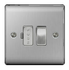 BG Nexus Metal NBS50 - STAINLESS STEEL Switched Fused Spur FCU Brushed Satin