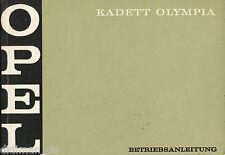 1 Opel Kadett Olympia Bedienungsanleitung 1969 12/69 manual gebruiksaanwijzing