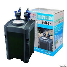 JEBAO 404 4-STAGE EXTERNAL CANISTER AQUARIUM FILTER 320GPH w/ FREE MEDIA KIT NEW