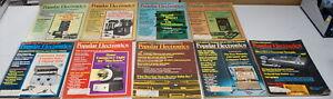 Rare Popular Electronics Magazine 9 Issues  1975 Ships Worldwide