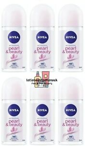 6 x Nivea PEARL & AND BEAUTY Anti Perspirant Deodorant Roll On 50ml