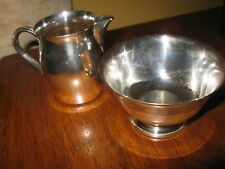 "Silverplate Paul Revere Reproduction WM Rogers Bowl 4"" & Creamer Pitcher 4"""