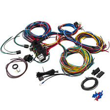 Wiring Harness 21 Circuit pre-wired 17 Fuses UNIVERSAL Hot Rod Extra long Wire