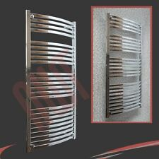 "600mm(w) x 1400mm(h) ""Ellipse"" Chrome Heated Towel Rail Radiator Warmer 3428 BTU"