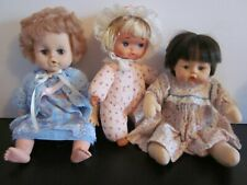 Lot Of 3 Baby Dolls M.A. Huggums, Uneeda, Eegee Doll Plastics See Pics #729