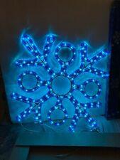 "Snowflake Rope Light Christmas International 18"" Blue Silhoutte Window Star Glow"