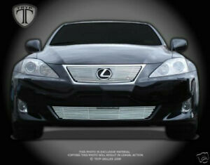 2006-2008 Lexus IS250/IS350 Chrome Billet Grille/Grill Top and Bottom