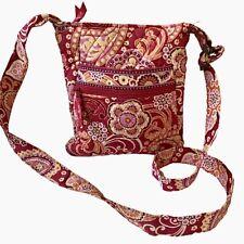 Vera Bradley Medium Size Hipster Cross Body Handbag Raspberry Fizz Long Strap