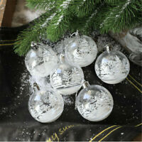 6er Set Weihnachts Kugeln blinkende Christbaumkugeln Schneeflocke Weihnachtskuge
