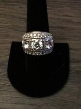 Bella Luce 9.15 Ct.white Diamond Simulant Rhodium Over S/S Sz9  Cost $89