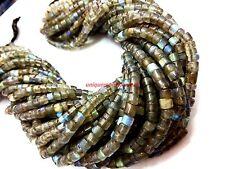 "AAA+ Natural labradorite heishi 4-5mm plain tyre loose beads13"" inch"
