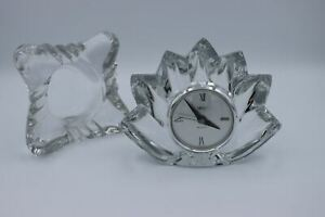 Mikasa Crystal Quartz Mantle Clock with Extra Case/Holder and Batteries Included