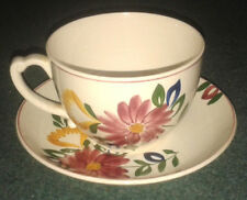 Vintage/Retro Large T G Green Floral Pattern Cup and Saucer Set - VGC