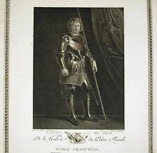 """Philippe de Champaigne """"gaston de foix"""" Gravure Francois Guibert  Ed Couché 1786"""