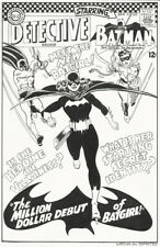 BATGIRL BATMAN and ROBIN Cover Art Recreation Comic Detective 359 Bat Girl Pinup