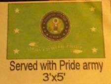 3x5 SERVED WITH PRIDE ARMY