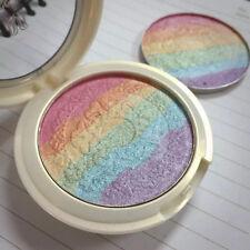 Rainbow Highlighter Powder Shimmer Eyeshadow Palette Blush Contour Make up tools