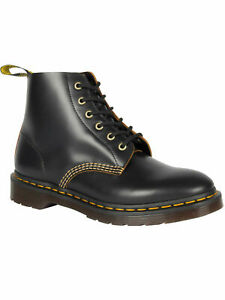 Dr. Martens Doc 6-loch 101 ARC Vintage Smooth Black / Schwarz 22701001  5125