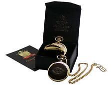 BATMAN Dark Knight  Real 24k Gold Clad POCKET WATCH Luxury Gift Box Certificate