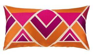 "Trina Turk Los Altos Pillow - 12"" x 22"" Pink, Orange, Purple, Beige"