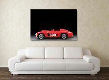 1956 Ferrari 290 MM 30x20 Inch Canvas Art Framed Picture Fangio Classic Car