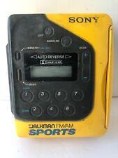 Sony Yellow Sports Walkman Cassette Player Wm-F2078 Working Vintage Tape Player