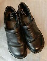 B.O.C Born Concept Womens Black Leather Clogs Slip On Shoes Size 8.5 M