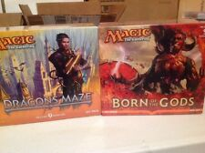 2 BOX LOT OF  M T G  BORN OF THE GODS  & DRAGONS MAZE FAT PACK
