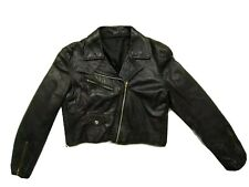 Real Leather Womens Size L Biker Jacket