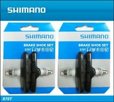 2x Shimano S70T V-Brake Pads 70mm Long Rubber Brake BR-M530 MTB Hybrid Y8GV9801A