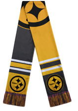 NFL  Pittsburgh Steelers Color Blend Knit Scarf Double Sided Team Logo