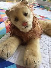 "VINTAGE German STEIFF LAYING DOWN LEO THE LION ~ 8"" HIGH x 20"" WIDE x 12"" deep"