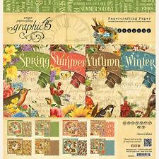 Graphic45 Seasons 12x12 Paper Pad scrapbooking (24) Sheets