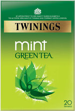 TWININGS MINT GREEN TEA 20 TEA BAGS