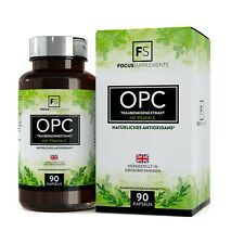 OPC Grape Seed 95% Extract 600mg | With Vitamin C | 90 Capsules | Antioxidant