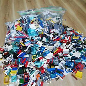 LEGO (X150+PC'S) 0.5KG LEGO WINDOW, WALL & DOORS CREATIVITY PACK - BULK BAGS!