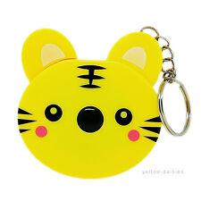 Cute TIGER Pocket Retractable Tape measure 150cm Yellow Craft New UK Seller
