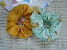 PACK OF 2 BEE & MUSTARD SCRUNCHIES SCRUNCHY HAIR ACCESSORY SUMMER TIE BAND TIES