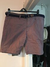 "marks and spencer Blue Harbour 40"" Waist Red Check Shorts (N8)"