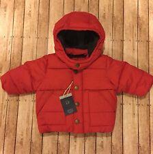 Baby Gap Infant  Boys Red Warmest Jacket Puffer Coat 0-6 Months