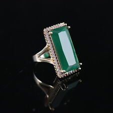 TURKISH HANDMADE EMERALD STERLING SILVER 925K RING SIZE 7,8,9