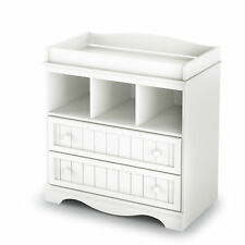 White Changing Table Baby Infant Storage Diaper Station Nursery Furniture Drawer